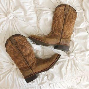 Nocona Suede Cowboy Boots 🐴